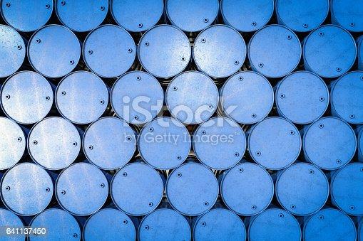 3d rendering blue barrel background