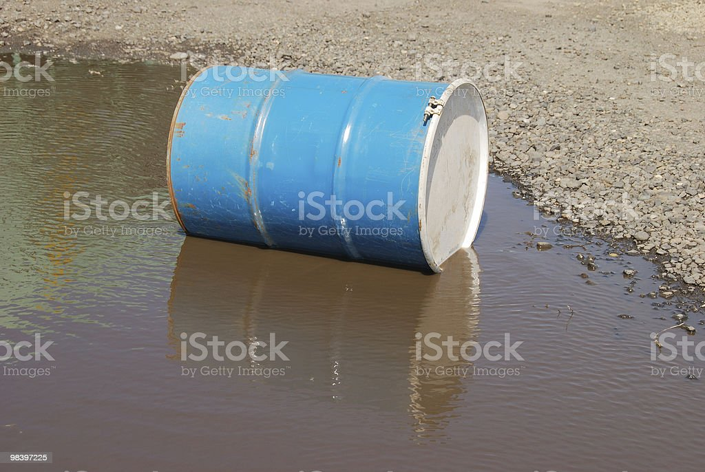 barrel in water royalty-free stock photo