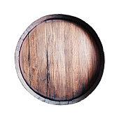 Barrel isolated on white background.