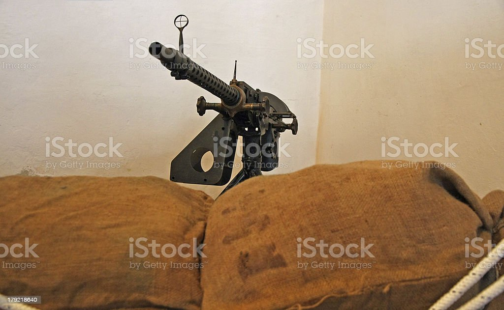 barrel of a gun threatening used during the war royalty-free stock photo