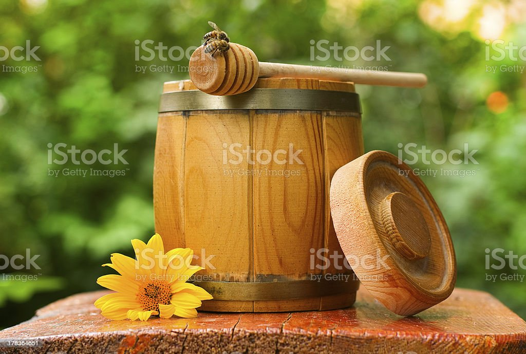 barrel of honey royalty-free stock photo