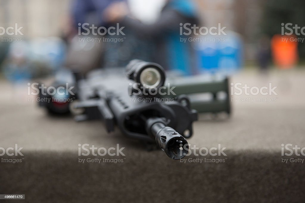 Barrel of rifle stock photo
