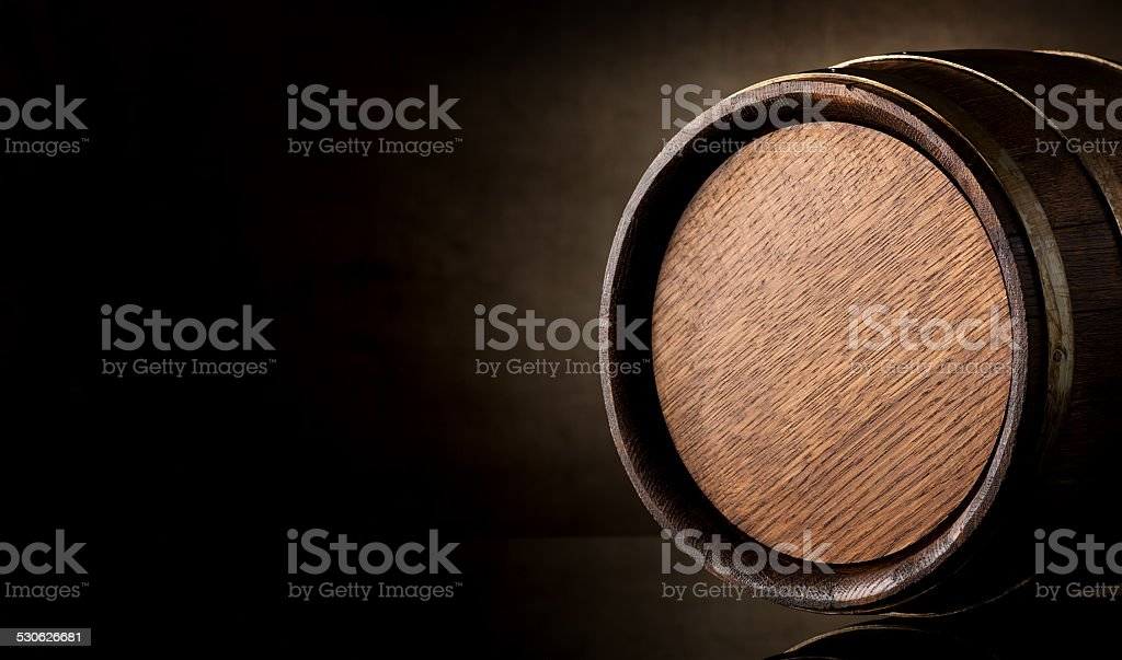 Barrel on brown stock photo