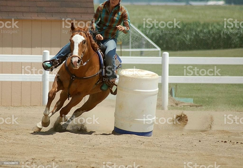Barrel Racing Competition stock photo