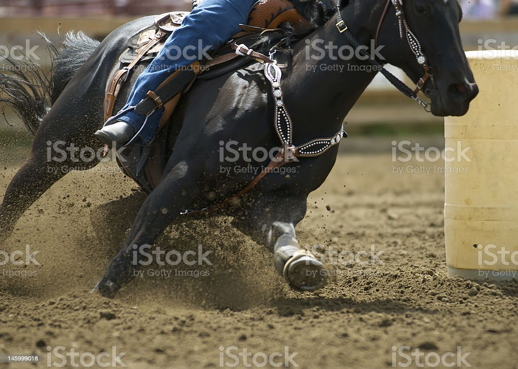 Barrel Racing #3 stock photo