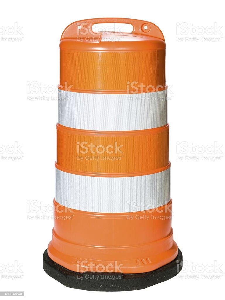 Barrel Traffic barrier stock photo