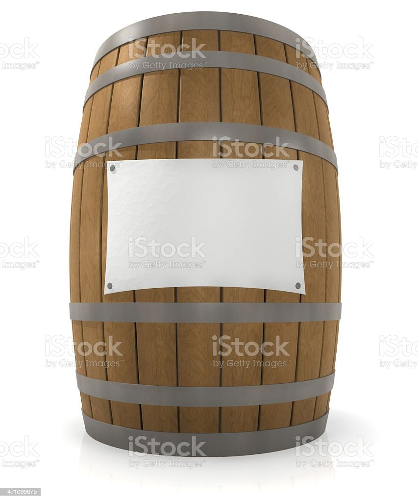Barrel with copy space royalty-free stock photo