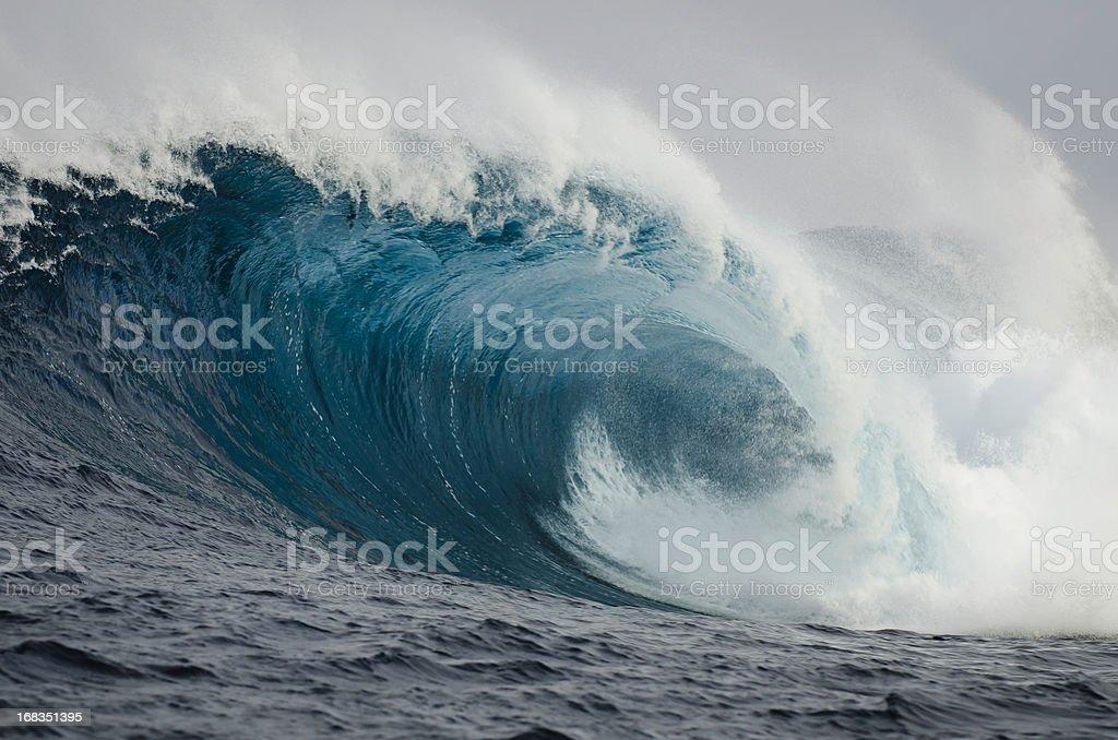 Barrelling Wave royalty-free stock photo