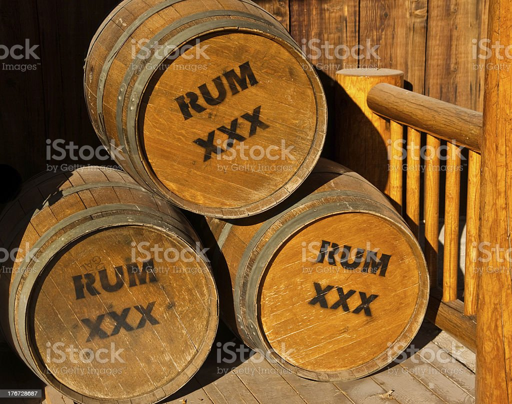 Barrels of Rum stock photo
