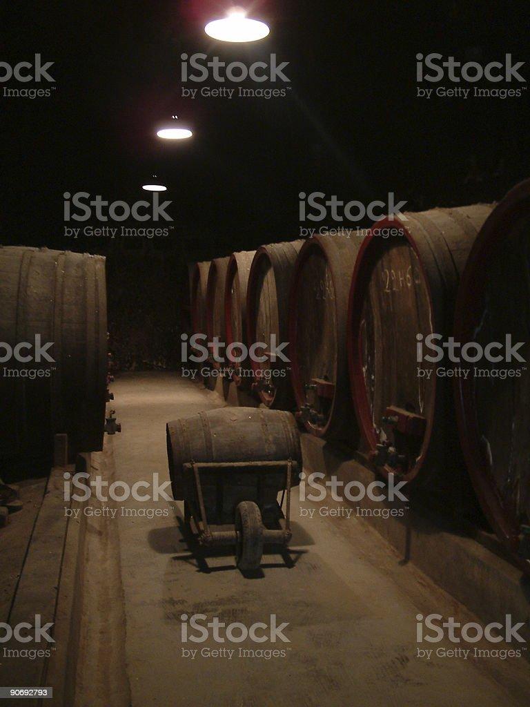 Barrels of wine royalty-free stock photo