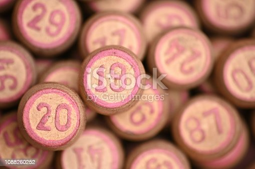 istock Barrels with digits for playing lotto.New Year 2019.Merry Christmas 1088260252