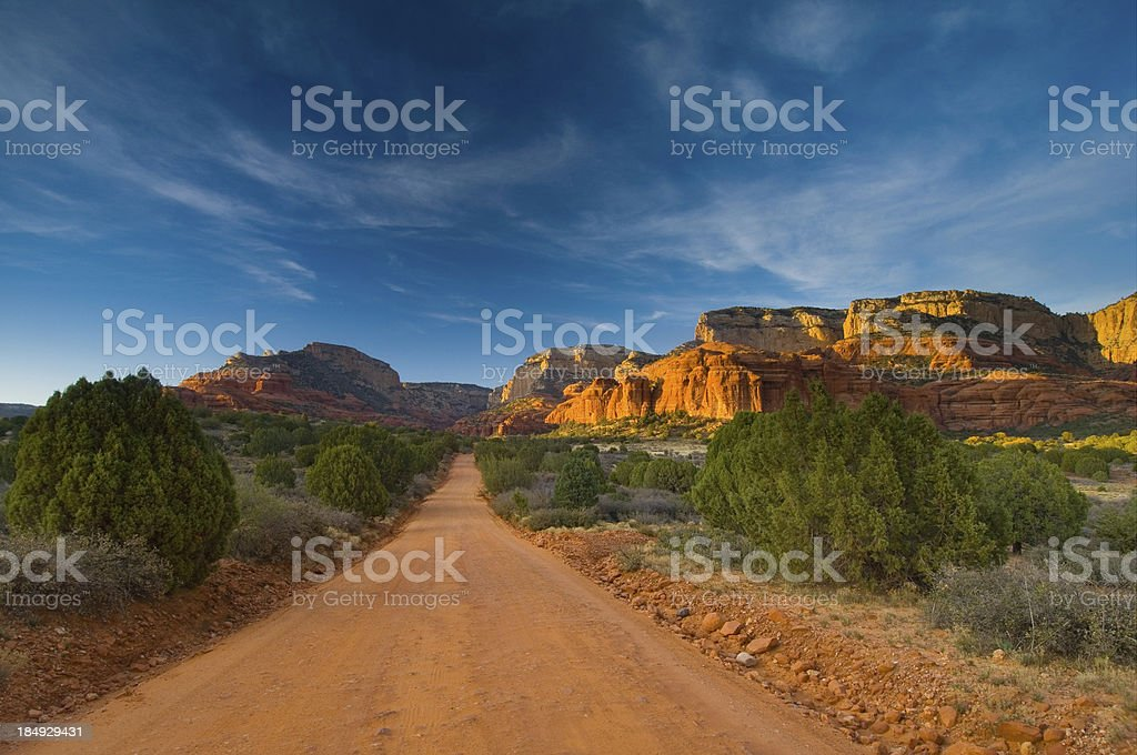 Barren Dirt Road Sedona Arizona royalty-free stock photo