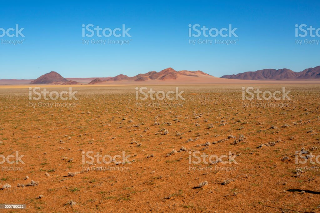 Barren dry landscape stock photo