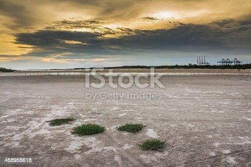 istock Barren ground sunset 488958618