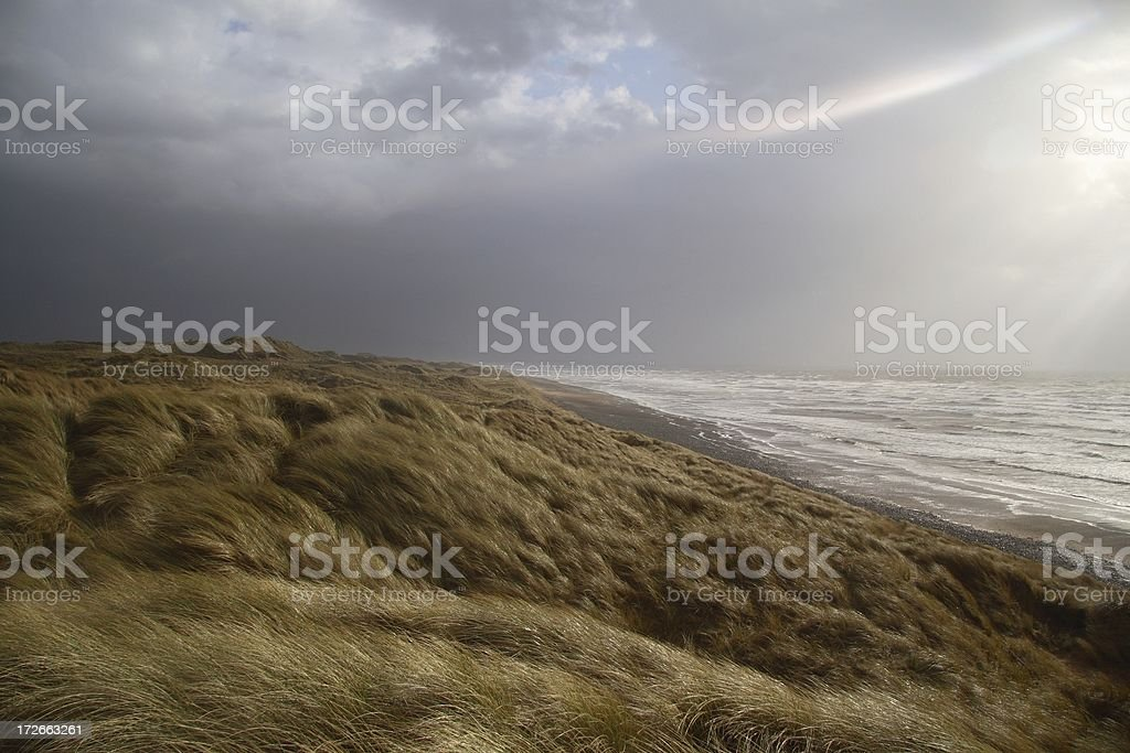 Barren stormy coastline stock photo
