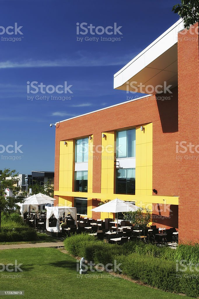 Bar-Restaurant Terrace royalty-free stock photo