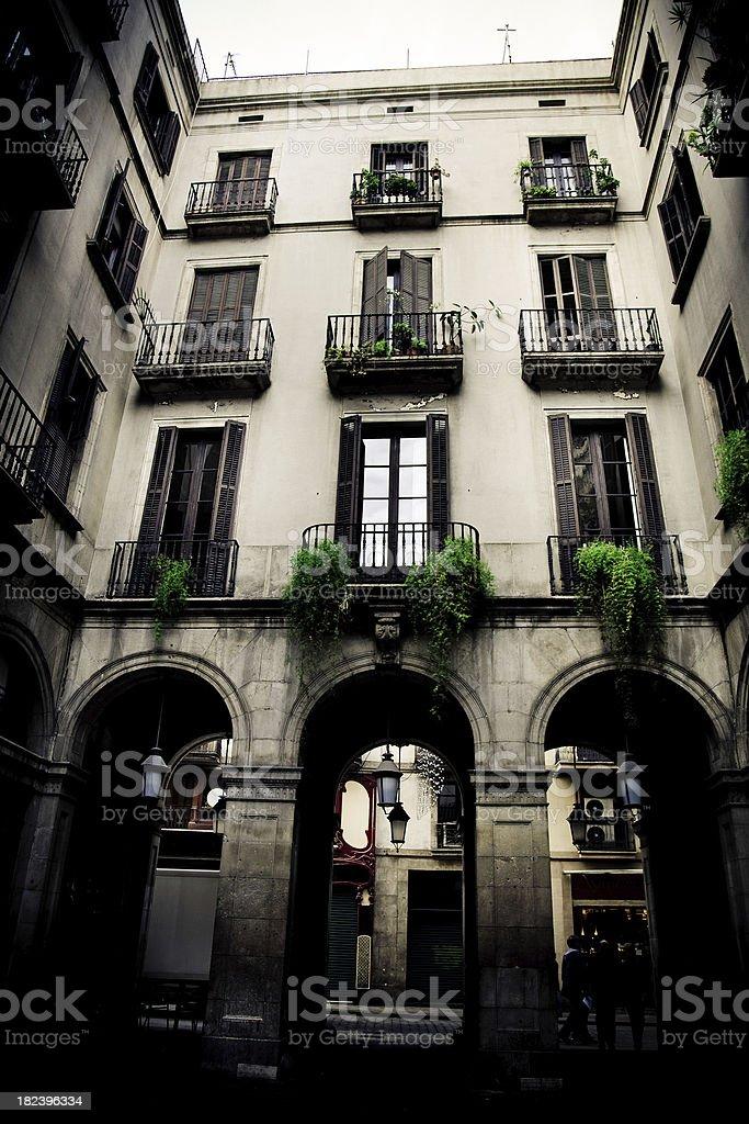 Barri Gòtic in the Old Barcelona stock photo