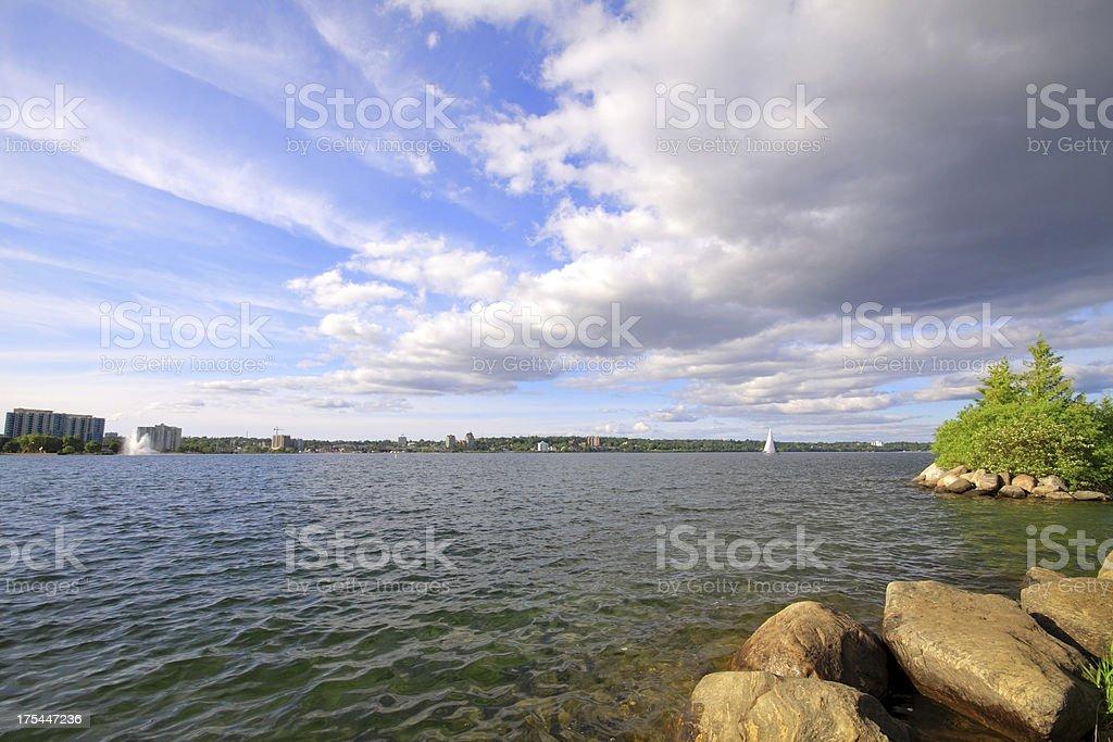 Barrie Skyline stock photo