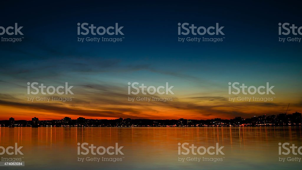 Barrie Sunset stock photo