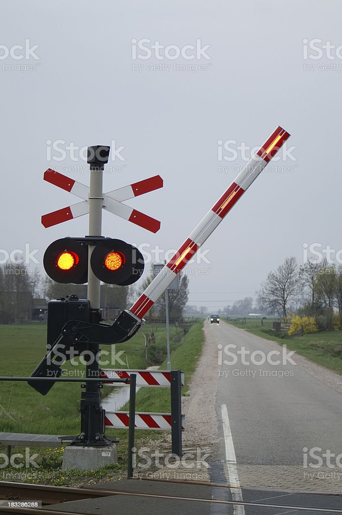 Barrier closing royalty-free stock photo