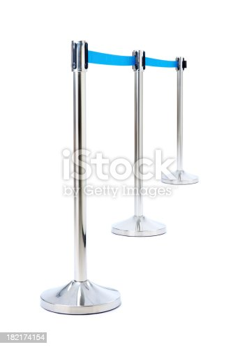 Portable barrier for queue control isolated.