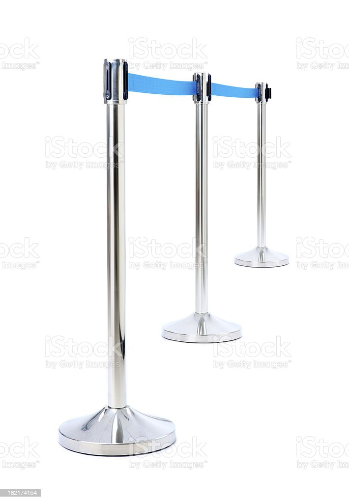 Barrier for queue controlling isolated stock photo