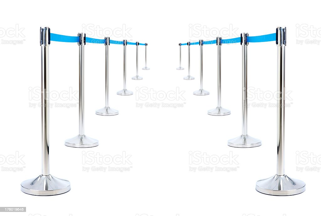 Barrier for queue controlling royalty-free stock photo