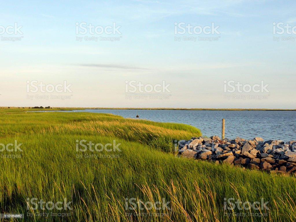 Barrier Islands North Carolina USA Atlantic Coast Salt Water Marsh stock photo