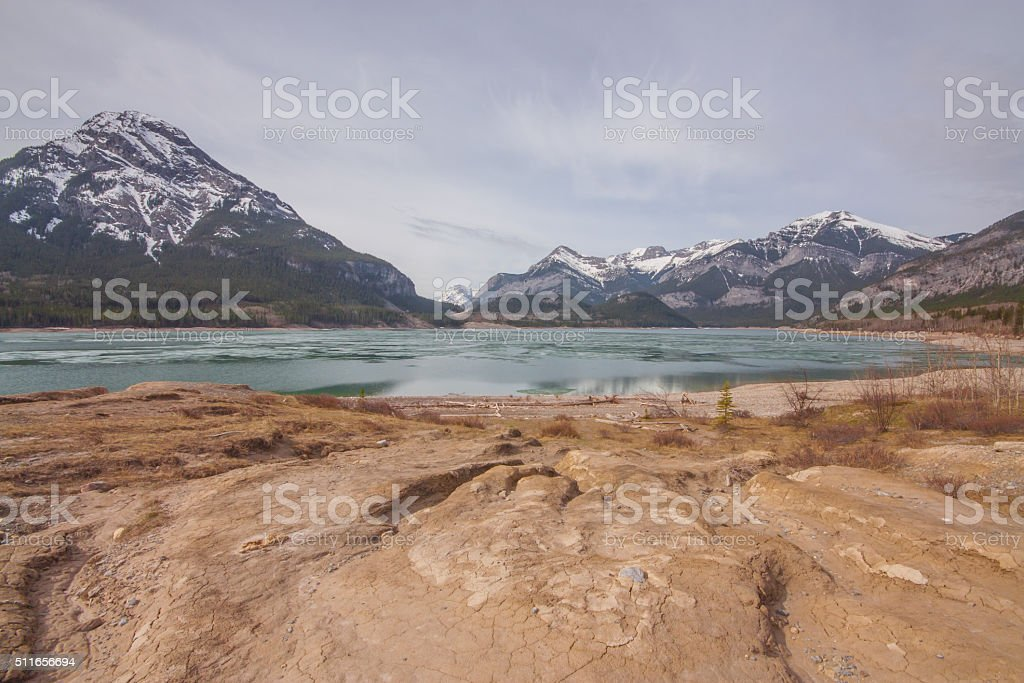Barrier Lake and Mount Baldy Landscape. stock photo