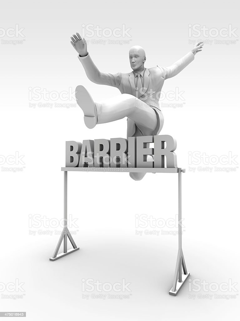 Barrier Racing stock photo