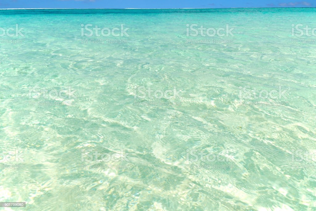 Barrier reef shallows stock photo
