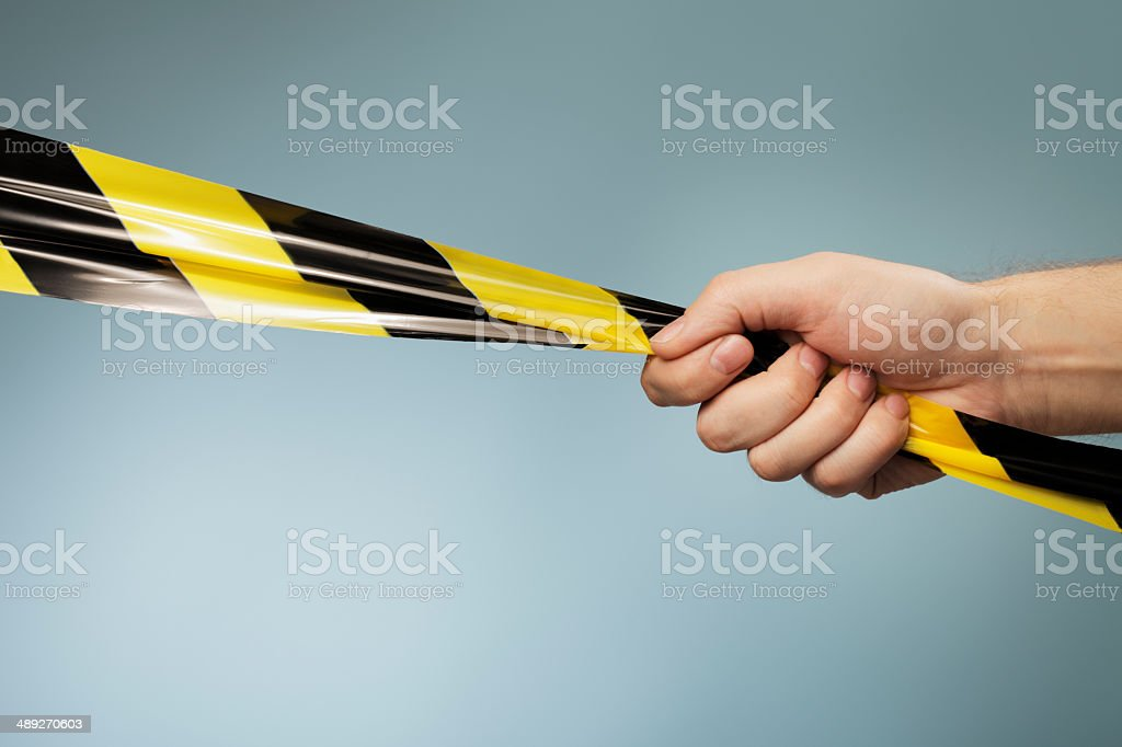 Barrier tape stock photo