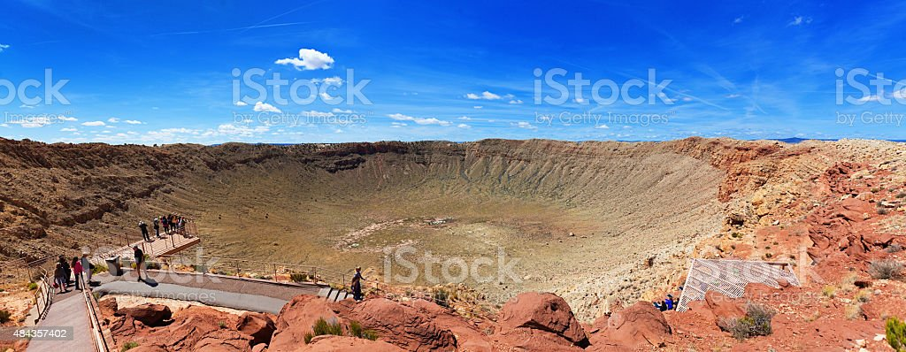 Barringer Crater, the Meteor Impact Crater in Arizona, USA stock photo