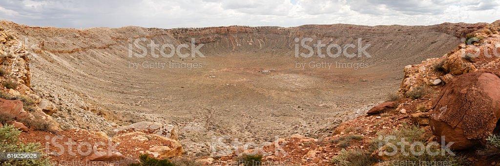 Barringer Meteor Crater in Arizona stock photo