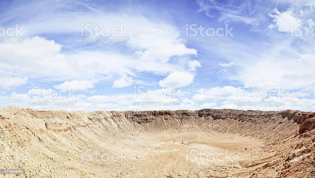 Barringer Meteor Crater Panoramic stock photo
