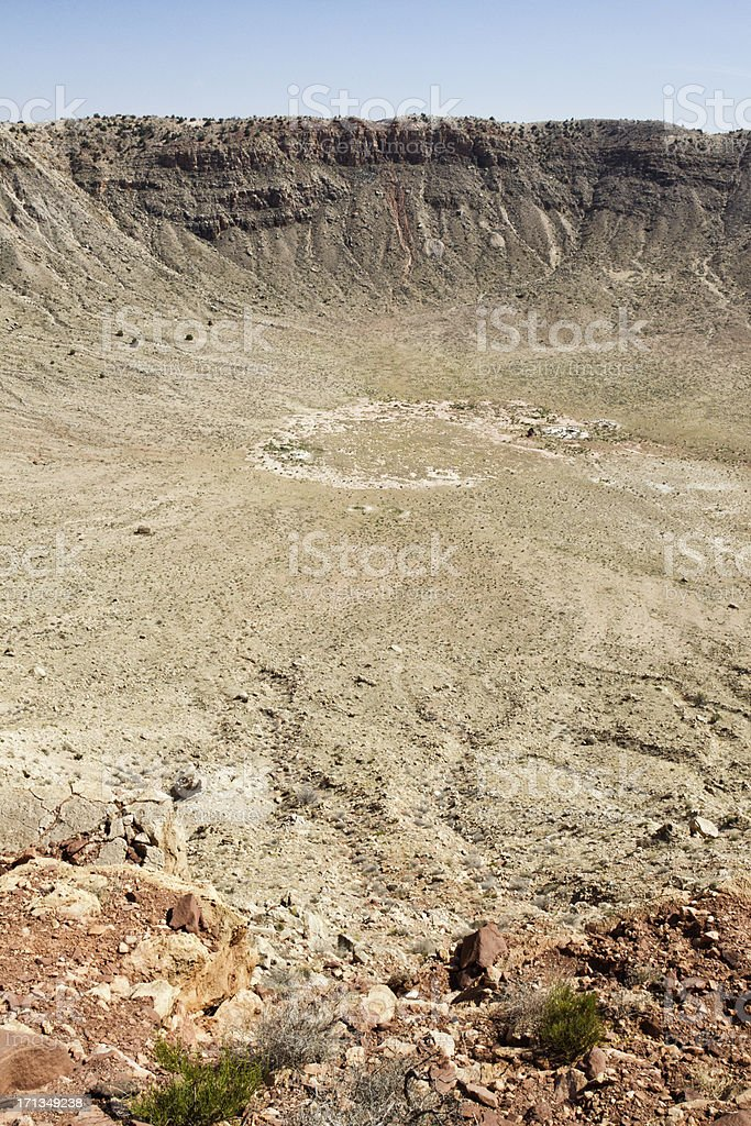Barringer Meteor Crater stock photo