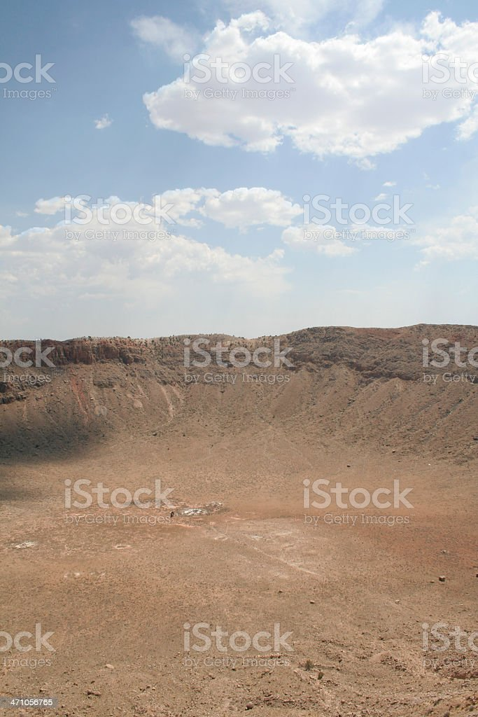 Barringer Meteor Crater stock photo