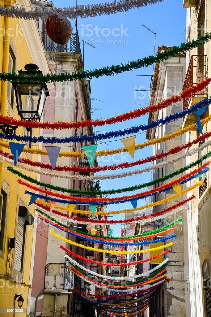 Barrio Alto Lisbon stock photo
