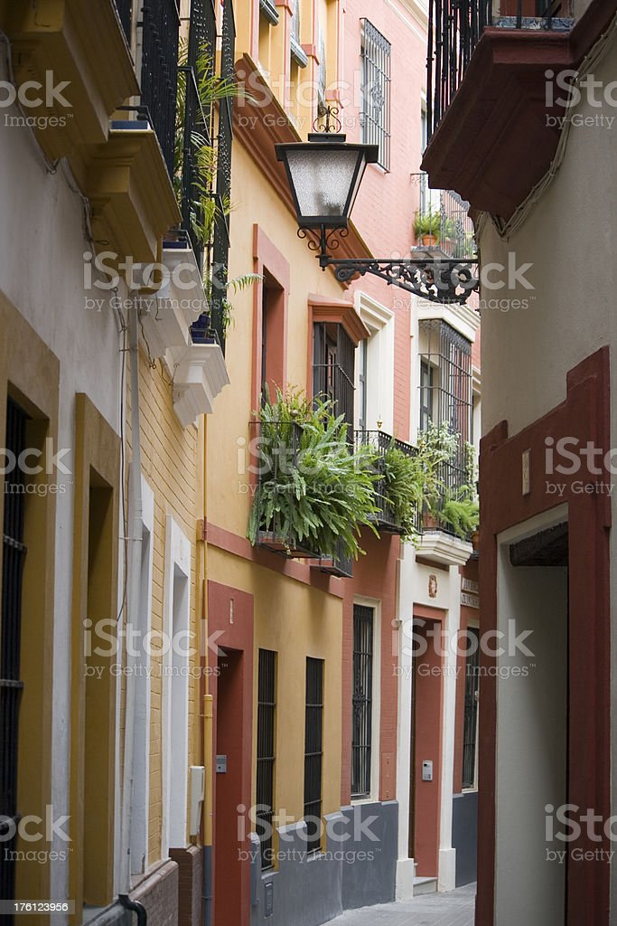 Barrio Santa Cruz in Sevilla- Spain royalty-free stock photo