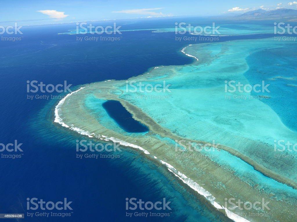 Barrière de corail - Lagon Nouvelle Calédonie stock photo