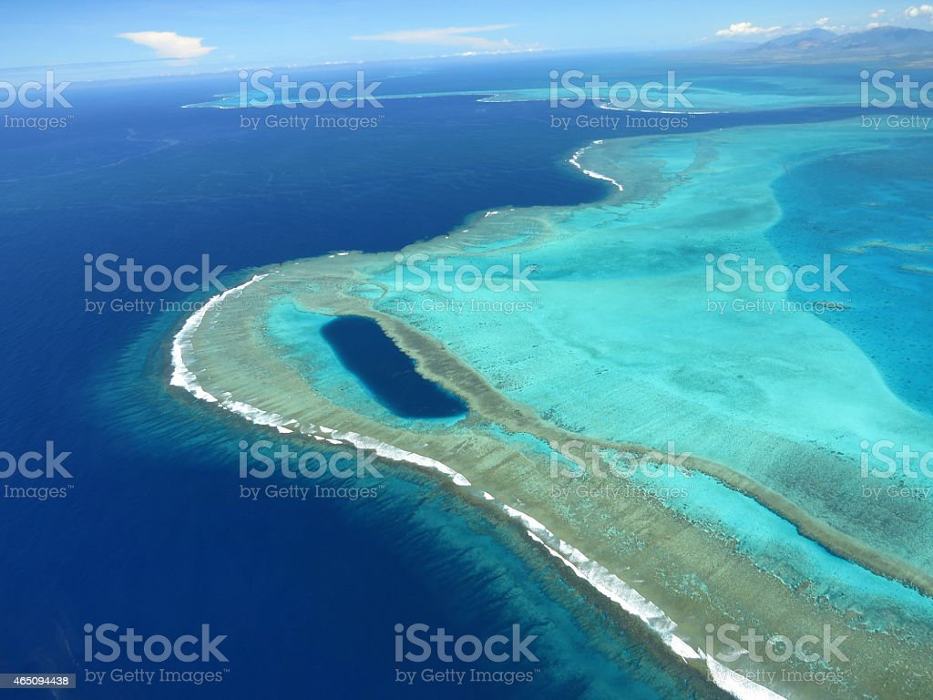 Barrière di corallo-Lagon Nouvelle Calédonie - foto stock