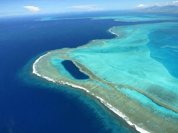 barrière de corail-lagon nouvelle calédonie - laguna - fotografias e filmes do acervo