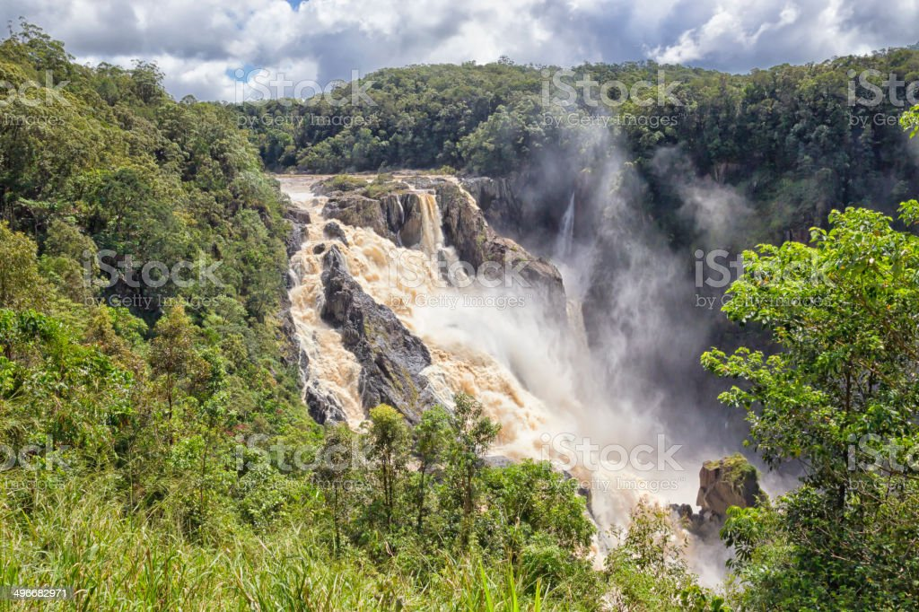 Barron Falls after cyclone in Queensland, Australia stock photo