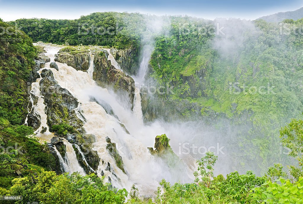 Barron falls after heavy rain and flooding royalty-free stock photo