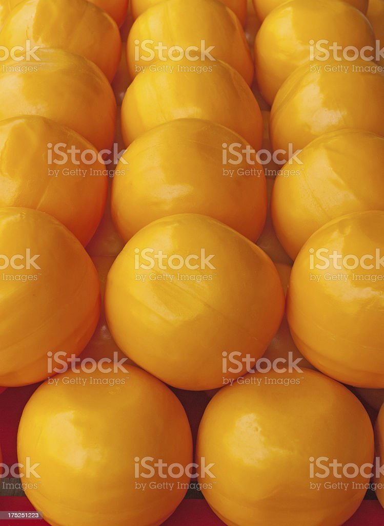 Barrow of Edam Cheeses royalty-free stock photo
