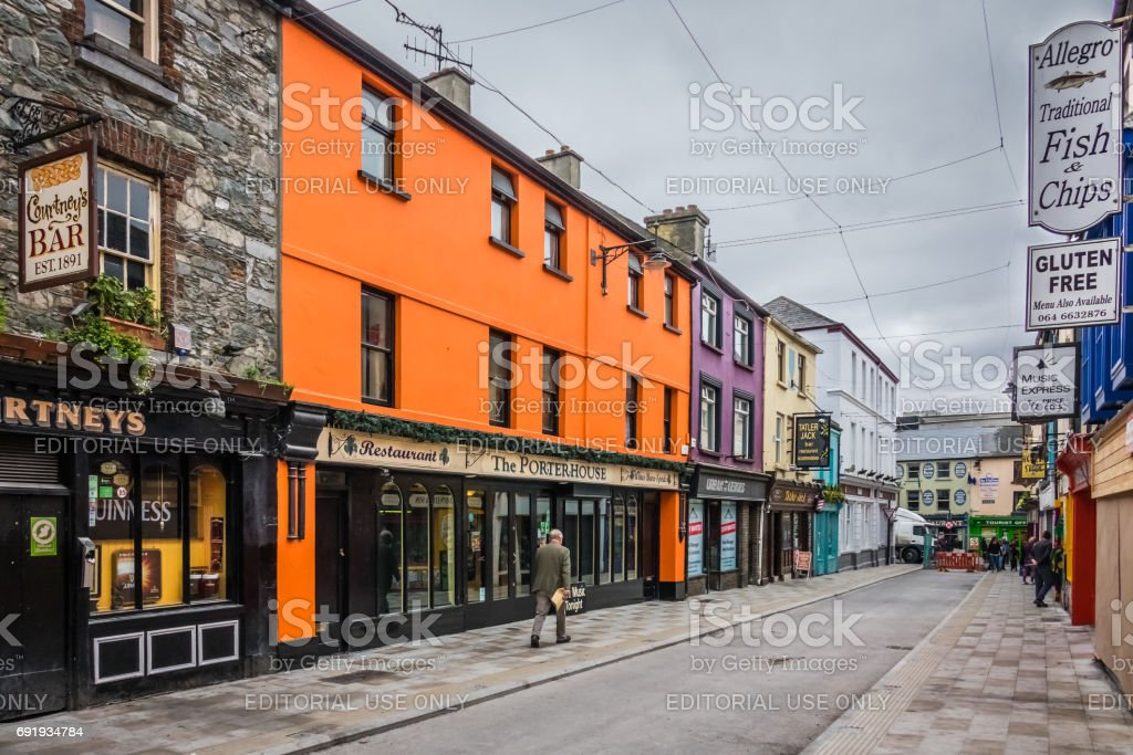 Bars and pubs in Ireland stock photo