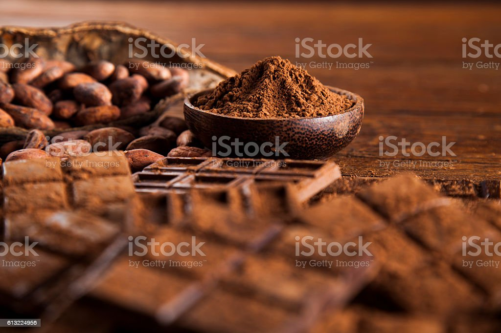 Bars Chocolate , candy sweet, dessert food on wooden background – Foto