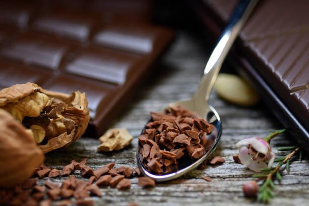 schokolade bars von - pfefferminzschokolade stock-fotos und bilder