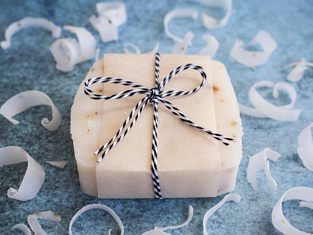 Bars of handmade soap stock photo