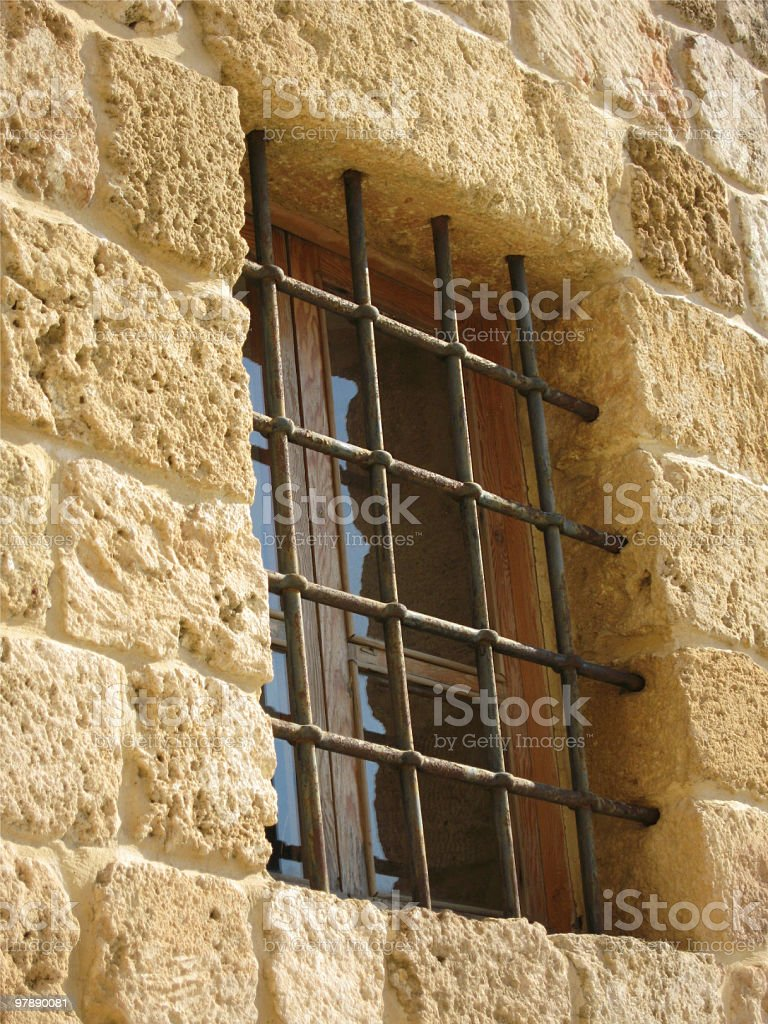 Bars On A Window royalty-free stock photo